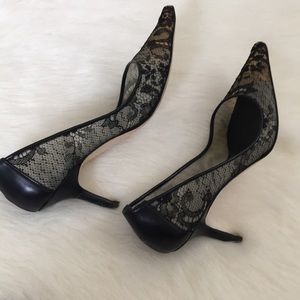 Vera Wang Riky Leather Pumps sale hot sale free shipping fashionable Cf9Sk